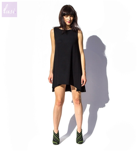 Circle Light Black Dress